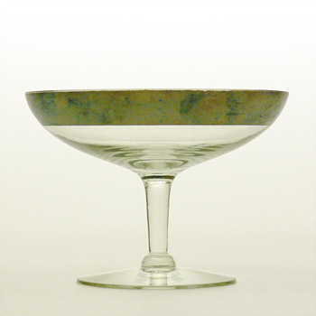 Silver Band compote, Dorothy Thorpe - Art Deco