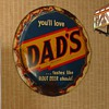 Dad's Root Beer Bottle Cap Sign...Celebrating 75 Successful Years In 2012