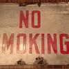 Old Vintage Heavy Porcelain NO SMOKING Sign