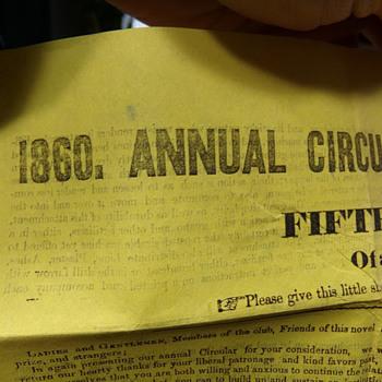1860 Circular - Paper