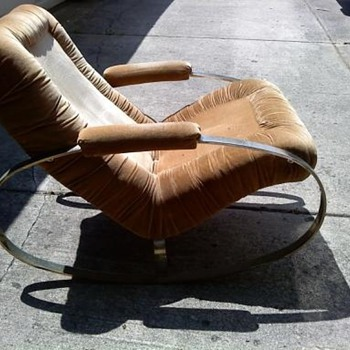 Chrome oval rockers chair - Mid-Century Modern