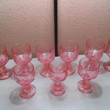 pink glasses I found in florida - Glassware