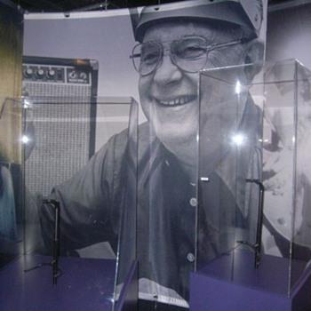 Leo Fender Silkscreen - 9 feet wide X 9 feet tall  - Music Memorabilia