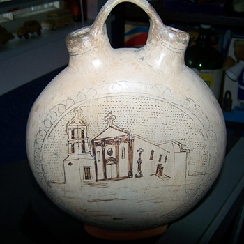 Old Vintage Canteen Jug - Pottery