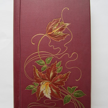 Embossed Jugendstil Postcard Album, containing embossed Christmas Cards - Postcards