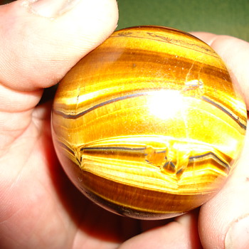 TIGERS EYE ,ALMOST TWO INCHES