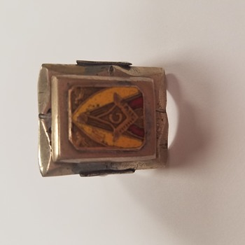 Antique Masonic Mens Ring - Fine Jewelry