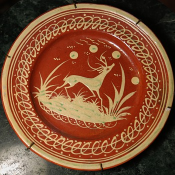 Four Tlaquepaque Slip-decorated Redware from Mexico - Pottery