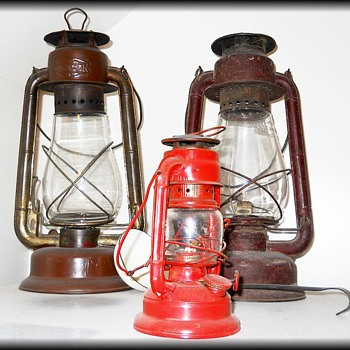 Vintage Farm Barn Lanterns - Lamps
