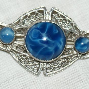 Filigree Sterling Silver Pin - Costume Jewelry