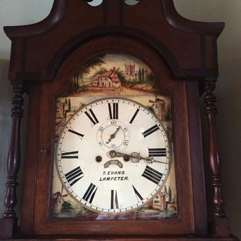 1830-1850 Longcase clock (T. Evans Lampeter) - Clocks