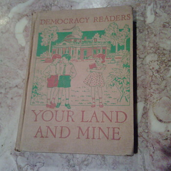 1940's Elementary School Textbook About Democracy - Books