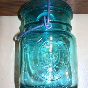 A beautiful blue jar...