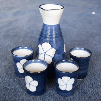 Vintage Sake Set - Asian