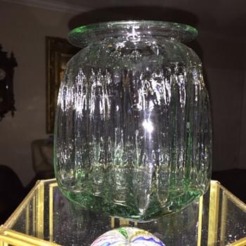 Unknown Crude Blown Glass Food Jar?? - Bottles