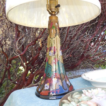 1923 Gouda Pottery Table Lamp - Lamps