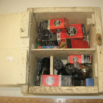 Box Of Old Television Tubes - Electronics