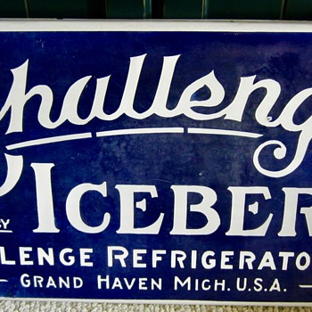 1920s advertising Challenge mfd. by ICEBERG sign - Advertising