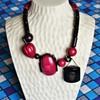 Vintage Isadora Paris Galalith Necklace