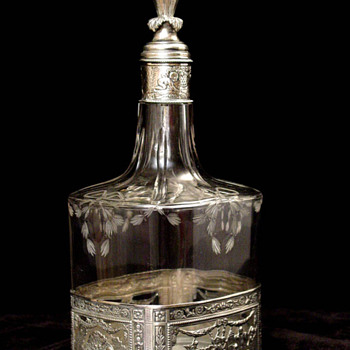 Silver and Glass Decanters - Silver