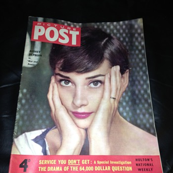 Picture post , Picturegoer, screen pictorial, movie film magazines.  Audrey Hepburn, Norma shearer, merlo Oberon 1930's 40's 50 - Paper