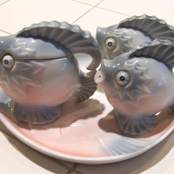 Fish and lobster condiment and salt & pepper sets - Kitchen