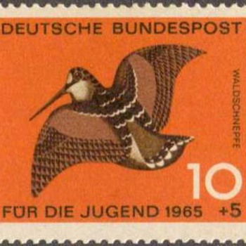 "1965 - W. Germany - ""Birds"" Postage Stamp Series"