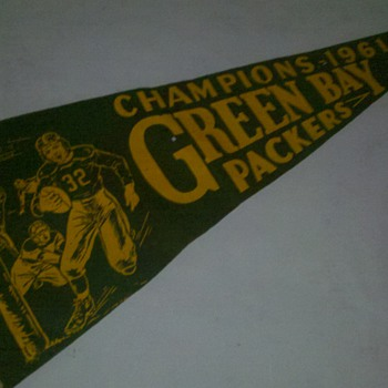 1961 Green Bay Packers Champions Pennant