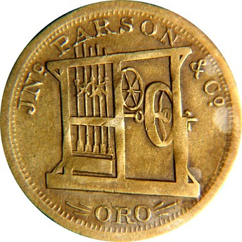 Dr. Parsons $5 Colorado Territory Gold