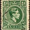 "Jamaica - ""King George VI"" Postage Stamps"