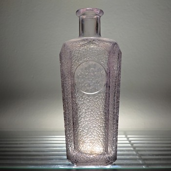 Antique Textured Amethyst Bottle Flask (Mystery) - Bottles