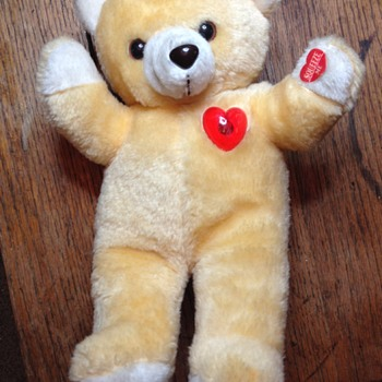 1980s Heart Light? Teddy Bear Battery Operated Recording/Play Back - Toys