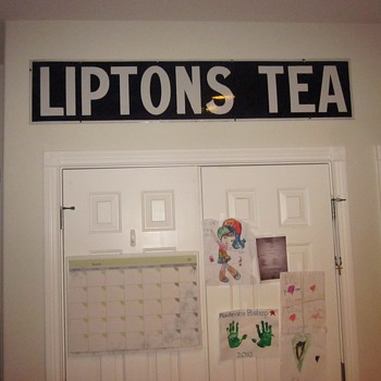 Porcelain Lipton's Tea Sign - Advertising