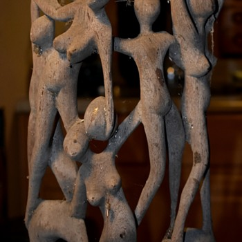 Here's the other Shona Ebony sculpture - before i clean it up. - Fine Art