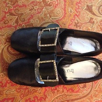 Vintage Gamins Satin Shoes - Shoes