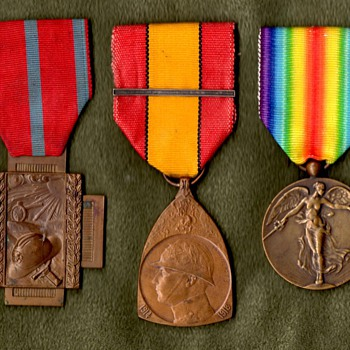 Belgian Victory Medal and It's Companions