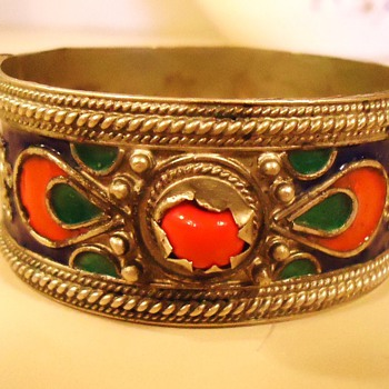 Bracelet Where Made?  Tribal? India? Middle East? Silver? Need Help! How Old?