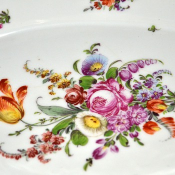 Large Vegetable Dish - Dresden - China and Dinnerware