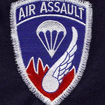 Military patch 187th infantry given in 2002