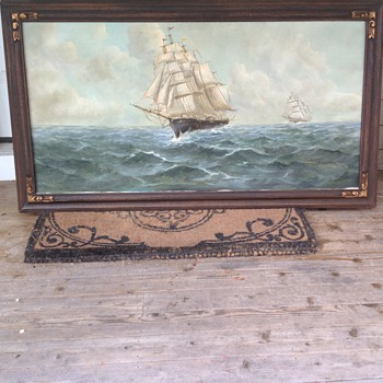 oil nortical ship oil painting large