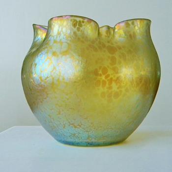 Nouveau Loetz Candia Papillon Vase Bowl  - Art Nouveau