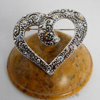 "Coro ""Austrian Crystal"" Brooch - Costume Jewelry"
