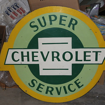 Super Chevrolet Service Sign - Signs