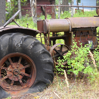 Found in the back woods of Montana - Tractors