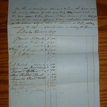 1847 Document  - Paper