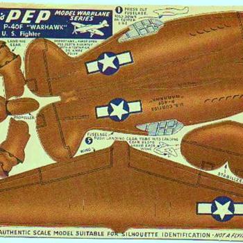KELLOGS PEP  WW2 PAPER AIRCRAFT - Toys