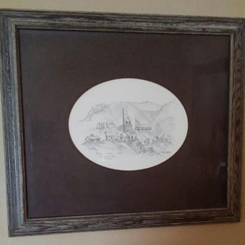 Antique drawing Keane Wonder Mill - Fine Art
