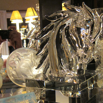 CARTIER GLASS HORSE HEAD - Art Glass