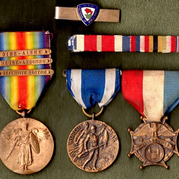 77th Division WWI Veteran's Grouping – with Certificate of Merit Ribbon? - Military and Wartime