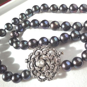 South Sea grey pearl necklace  - Fine Jewelry